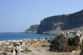 Část ostrova Rhodos