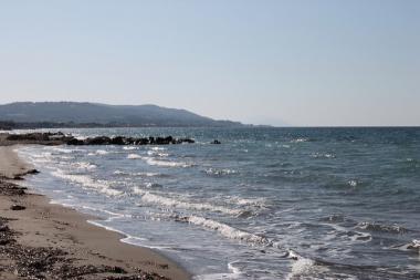 Pohled na pláž Fanes na ostrově Rhodos